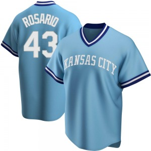 Youth Randy Rosario Kansas City Royals Replica Light Blue Road Cooperstown Collection Jersey