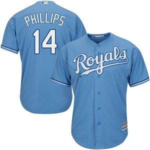 Youth Brett Phillips Kansas City Royals Replica Light Blue Cool Base Alternate Jersey by Majestic
