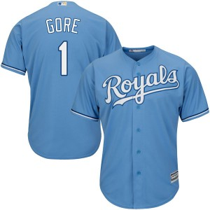 Youth Terrance Gore Kansas City Royals Authentic Light Blue Cool Base Alternate Jersey by Majestic