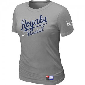 Women's Kansas City Royals Grey Practice T-Shirt - by Nike